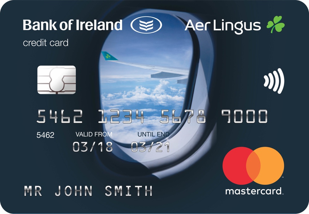 The Aer Lingus credit card offered in partnership with Bank of Ireland